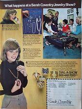 1977 Sarah Coventry Jewelry Show Party Color Original Ad