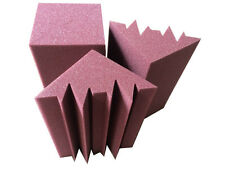 Acoustic Bass Trap Foam 6PC Burgundy Sound Insulation Ceiling For Corner Studio