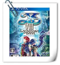 PSV Ys VIII 8 Lacrimosa of Dana ENG / 伊蘇8 達娜的安魂曲 中文 SONY VITA Falcom RPG Game