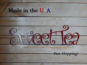 Sweet Tea, Kitchen Decor, Cooking, Restaurant Decor, Indoor/Outdoor Art, W1045