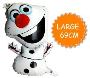 Frozen Large Olaf Snowman Foil Balloon Helium Quality Anna Elsa Party Decoration