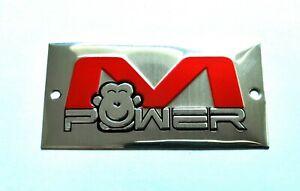 M POWER 3D HEATPROOF EXHAUST BADGE STICKER GRAPHIC DECAL SUPERBIKE SILENCER