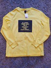 H&M Star Wars Yellow Sweatshirt Jumper Far Away Galaxy Dark Side Size M *NEW*