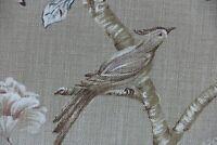 "Ralph Lauren Tela Cortina Diseño /""Wainscott Floral/"" 2.2 metros Camafeo Rosa"