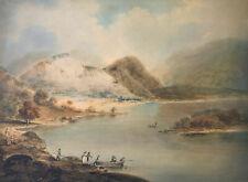 William Anderson, Figuren Boarding Ferry in einer Landschaft -Early C19th Aqu...