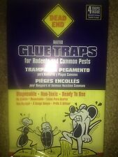 Glue mouse trap 4 strong baited disposable non-toxic roaches bugs spiders