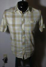 Men's HORNY TOAD Tan 100% Organic Cotton Short Sleeve Shirt Size S