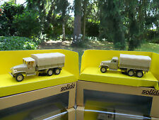 "SOLIDO MILITARY SET OF 2 TRUCKS GMC SAND "" SPECIAL COMMERCE "" NEW BOXES"