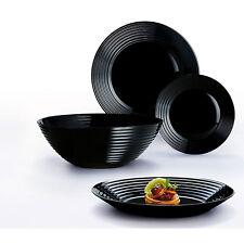 Servizio piatti colore nero 19 pezzi