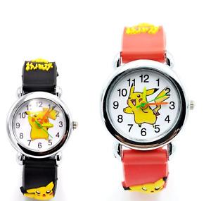 Pokemon Go Pikachu Wrist Watch Children Kids Boys Girls Gift Party Stocking