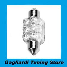 Lampada Siluro 6 Led Blu 12V 13x35 mm SV8,5-8 C5W - C10W Lampadina Luci C58427