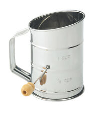 Harold Mrs. Anderson's Stainless Steel Baking Crank Flour Sugar Sifter, 1-Cup