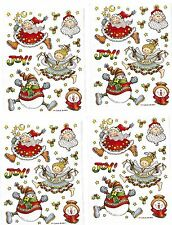 4 Sheets PROVO Craft Christmas JOY Rejoice Santa Claus Angel Scrapbook Stickers