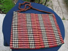 19C. ANTIQUE OLD HANDWOVEN WOOL  HAND BAG FOR BREAD OR SCHOOL