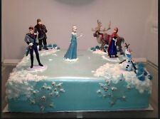 High  Quality CakeTopper 6pc Frozen Figures  Anna Elsa Hans Kristoff Sven Olaf