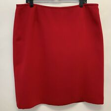 Womens Suit Skirt Size 18 Red Lined