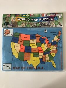 Map Of The USA Puzzle Soft, Safe, Non-Toxic By World Map Puzzle