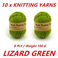 Malli 8ply Acrylic Knitting & Crochet Yarn 100g - Lizard Green Machine Washable