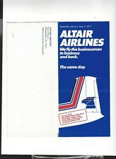 Altair Airlines  June 5  1977  timetable