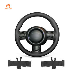 Black Artificial Leather Steering Wheel Cover for Mini Cooper Clubman Hardtop