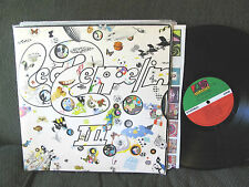 "Led Zeppelin III w/wheel LP VINYL '70 gatefold ""do what thou wilt"" rare 3 origin"