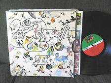 "Led Zeppelin III w/wheel LP VINYL '70 gatefold ""do what thou wilt"" rare 3 origin"
