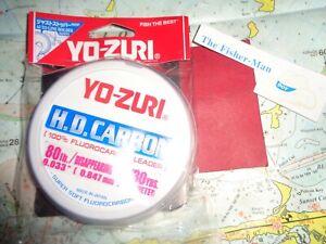 YO-ZURI FLUOROCARBON 80LB DISAPPEARING PINK NEW YO-ZURI FLUOROCARBON LEADER 30YD