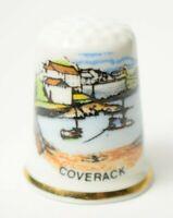Vintage china thimble Christchurch Birchcroft Dorset Souvenir Highcliffe