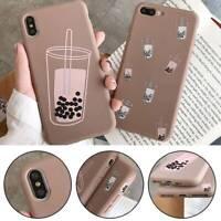 Milk Tea Pattern TPU Phone Case for iPhone X XS XR XSMAX 6sPlus 7 8 7Plus 8Plus