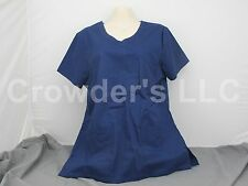 Scrub Star Premium Shirt Top Size S/CH Color Indigo
