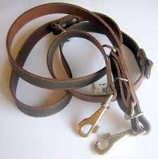 Führleine Hundeleine Lederleine In braun breite 20mm 220cm lang Hund Leder