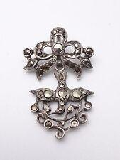 Ancien pendentif Saint Esprit argent massif et marcassite bijou regional XIXe