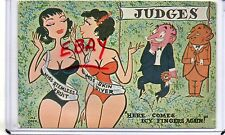 "SEXY COMIC,2 PAGENT BATHING BEAUTIES-""HERE COMES ICY FINGERS ABOUT 2 MALE JUDGES"