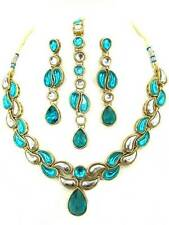 BOLLYWOOD Jewellery INDIAN Kundan Necklace Earrings MAANG TIKKA BELLY DANCE AUS