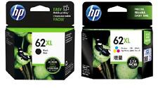 2x Genuine HP62XL Ink Cartridges C2P05AA Black+C2P07AA Colour Envy5640 Envy5740