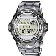 Casio Baby-g Clear Grey 200m Digital Stainless Steel / Rubber Bg-169r-8er Watch