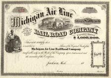 18_ Michigan Air Line Rr Stock Certificate