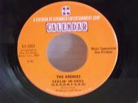 """The Archies,Calendar 107,""""Feelin' So Good"""",US,7"""" 45, 1968 pop rock, Mint"""