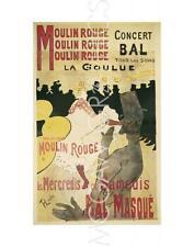 """LAUTREC, HENRI DE TOULOUSE -MOULIN ROUGE/LA GOULUE-ART PRINT POSTER14""""x11"""" (282)"""