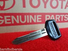 Toyota Master Key Blank Supra Corolla MR2 Cressida Spyder Genuine OEM USA SELLER