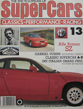 SUPERCARS magazine Issue 13 Featuring Alfa Romeo SZ cutaway drawing & poster