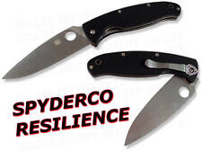 Spyderco Resilience G-10 Handle Plain Edge Knife C142GP