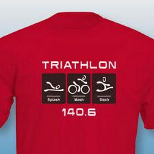 TRIATHLON 140.6 'Swim Bike Run' - HEAVY COTTON T SHIRTS