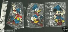 Disney Pins LE Auctions 100 RARE train Mickey Donald Goofy conductors set of 3