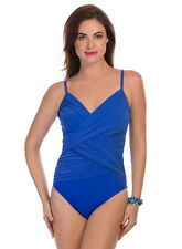 Slimming Swim Suit MIRACLESUIT HARPER Sz 8, Electric Blue, 10 lbs slimmer RV$160