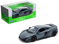 1/24 Welly McLaren 675LT Coupe Gray with Black Wheels Diecast Model Grey 24089