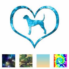 Heart Plott Hound Love - Decal Sticker - Multiple Patterns & Sizes - ebn1497