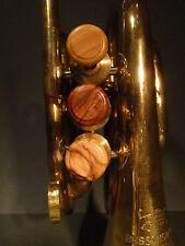 1 Ventil Knopf Trompete verschied.Hölzer sämtl. Marken  Finger Button Trumpet