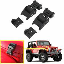 One Pair Black Aluminum Hood Lock Latch Catch for Jeep Wrangler JK JKU 2007-2017