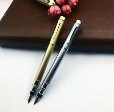 "2PCS Duke Uranus 306 "" The star of the world "" Gold and Silver Fountain Pen New"